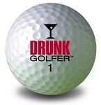 Drunk Golfer Golf Ball