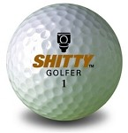 Shitty Golfer Golf Ball