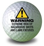 WARNING Golf Ball